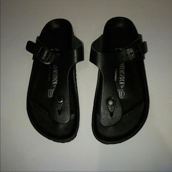 9ed14039fd2b Birkenstock Exquisite Gizeh Natural Black Leather.  M 5adf683adaa8f6a22235373c